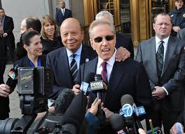 Fred Wilpon and Saul Katz outside courthouse Be Gone With Wilpon